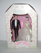 BARBIE AND KEN WEDDING DAY KEEPSAKE CHRISTMAS ORNAMENTS by HALLMARK NIB