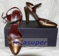 Prada Heels Shoes - Gold and Brown Size 40 100% Authentic BNIB