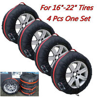 "4X Car Off Road Spare Tyre Tire Protection Cover 16""-22"" Carry Tote Storage Bags"