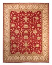 Tapis rouge afghans pour la maison en 100% laine