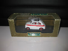 1.43 EARLY VITESSE FIAT 500 SPORT ROAD VERSION 1960 WHITE L082A  GREAT MODEL CAR
