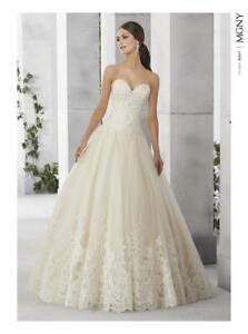 UK Stock Fabulous Lace Wedding Dress Size 8 10 12 14 16 18 20 22 Custom Made