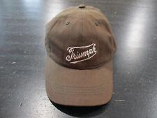 NEW Lucky Brand Triumph Strap Back Hat Cap Brown White Motorcycle Biker Mens