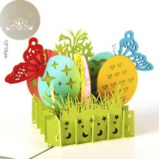 3D Pop Up Card Easter Egg Butterfly Gift New Hot Creative Greeting Cards