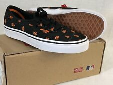 VANS SAN FRANCISCO GIANTS SNEAKERS BLACK CANVAS SHOES OFF THE WALL SIZE 4 NWT