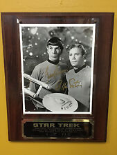Star Trek Limited Edition Collectors Plaque Signed Autograph Kirk & Spock w/COA