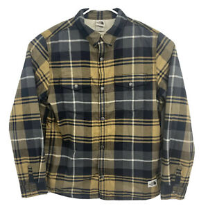The North Face Campshire Sherpa Lined Shirt Jacket Black Brown Mens Large