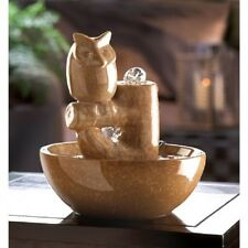 PERCHED OWL WATER FOUNTAIN