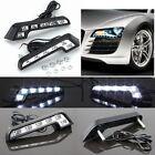 2X White Universal Car Auto Driving LED Lamp Fog 12V DRL Daytime Running Light