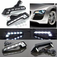 2X Car Vehicle 6 LED Daytime Running Light DRL Kit Fog Lamp Day Driving Daylight