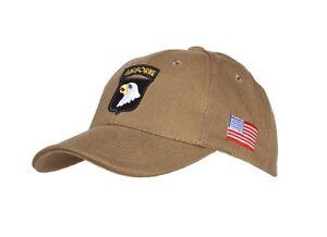 US Army Baseball Cap Sand 101st Airborne Screaming Eagle Usmc Marine Vietnam #