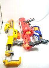 Lot Of 3 Nerf Guns. 1 Recon CS-6, 1 Mega Roto Fury, and 1 Strike Elite Strongman