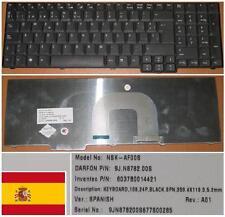 CLAVIER QWERTY ESPAGNOL ACER 9800 KB.AAK07.003 9J.N8782.10S NSK-AF10S NSK-AF00S