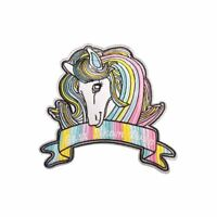 Colourful Unicorn L (Iron On) Embroidery Applique Patch Sew Iron Badge