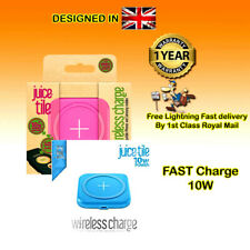 Juice Tile Fast Qi Wireless Charger Pad For Samsung Apple iPhone 11 X S8 S9 S10