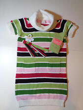 Gymboree Pups Kisses Striped Sweater Dress Pony Holder Socks Outfit  9