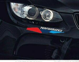 2x BMW M Performance Front Bumper sticker decal emblem badge logo sport rear tec