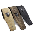 PU Python Snake Skin Pattern Thick Leather Adjustable Electric Bass Guitar Strap