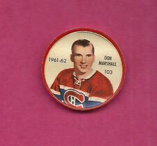 RARE 1961-62 SHIRRIFF / SALADA CANADIENS DON MARSHALL  COIN