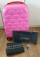 Lulu Guiness Lips Hardside 4 Wheel Spinner Cabin Suitcase Case Luggage BNIB