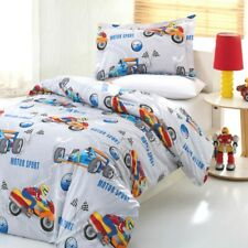 Motorcyclist Racing Bedding Duvet Cover Set Bed Kids Boys Bedding 3 parts Cotton