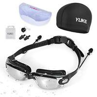 Xndryan Lunettes de natation pour adulte, bonnet de bain et lunettes de nat ...