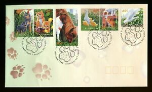 1996 Australia Pets FDC. Canberra first day cover SG 1645-1650. Cats, Dogs, pony