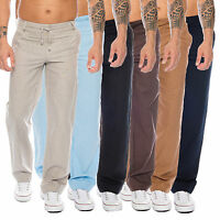 Rock Creek Herren Leinen Optik Hose Pant Chino Sommer Stoffhose Herrenhose RC-07