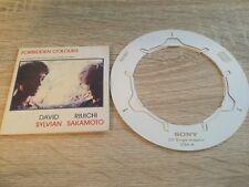"Forbidden Colours David Sylvian UK 3"" CD single  Japan Virgin 1988 With Adaptor"