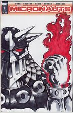 Micronauts 1 Original Art Sketch Cover Variant Blank Comic Book IDW Baron Karza