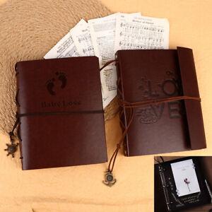 Vintage Photo Album Leather Scrapbooks Wedding Guest DIY Memories Book GiRI