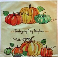 Fall Thanksgiving Day Pumpkins Pillow Covers Quick Home Decor 18x18 Soft Sage