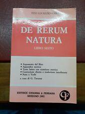 De rerum natura libro sesto - tito lucrezio caro - ciranna & ferrara 1988