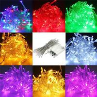 10-100 LEDs Warmweiß Weihnachten Party Hochzeit Batterie LED Lichterkette
