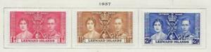 3 Leeward Islands Stamps from Quality Old Antique Album 1937