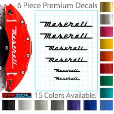 6 Maserati Decal Vinyl Stickers for Brake Caliper - Heat Resistant - 3 Sizes