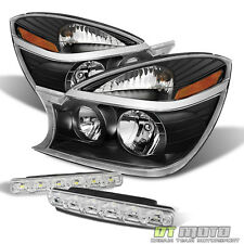 Blk 2002-2007 Buick Rendezvous Headlights Headlamps Replacement+SMD Bumper Fog