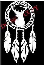 whitetail deer buck hunting country window sticker vinyl decal Dreamcatcher Cute