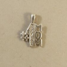 .925 Sterling Silver Small #1 MOM Pendant NEW Number One Mothers Day 925 PW94