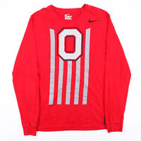 NIKE Music & Cannon Fire Buckeyes Red Sports Long Sleeve T-Shirt Mens L