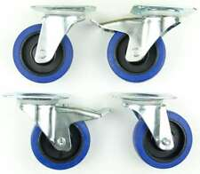 1 Set 100 mm SL Rollen BREMSE Transportrollen Lenkrollen Blue Wheels Schwerlast