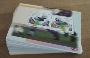 2002 Guinea-Bissau; 100 Blocks Fußball-WM, postfrisch/MNH, Bl. 377, ME 800,-