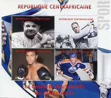 Central African Rep 2011 CTO Sports Baseball Golf Muhammad Ali 4v M/S Stamps