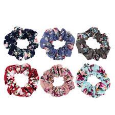 Latest Floral Cotton Scrunchies Flower Hair Ties Women Girls Hair Accessories