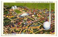 Constitutional Mall, Trylon and Perisphere, 1939 New York World's Fair Postcard