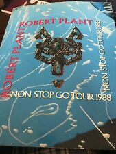 Robert Plant Non Stop Go Tour 1988 Program Led Zeppelin Book