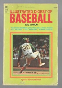ILLUSTRATED DIGEST OF BASEBALL 1972 EDITION SPECIAL NATIONAL EDITION