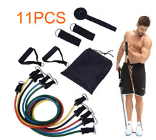 11Pcs Set Resistance Bands Workout Exercise Yoga Crossfit Fitness Training Tube