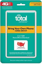 New Total Wireless Bring Your Own Phone Cdma Sim Activation Kit (Triple Punch)