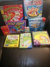 9 Brettspiele Gesellschaftsspiele Sammlung Konvolut Kinder - Haba, Ravensburger